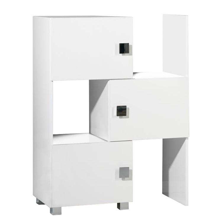 Genf mobiletto scomponibile - Bianco lucido/Bianco, Schildmeyer