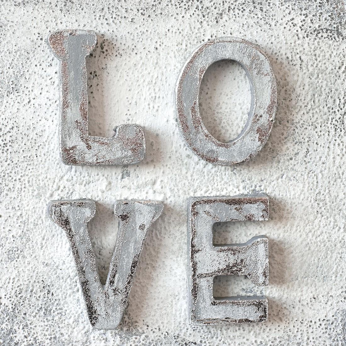 Print achter glas LOVE - 30x30cm, Pro Art