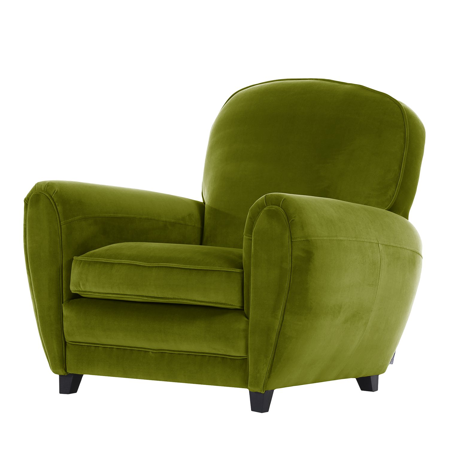 Fauteuil Marre Microfibre - Avocat cannelure fine, Jack and Alice