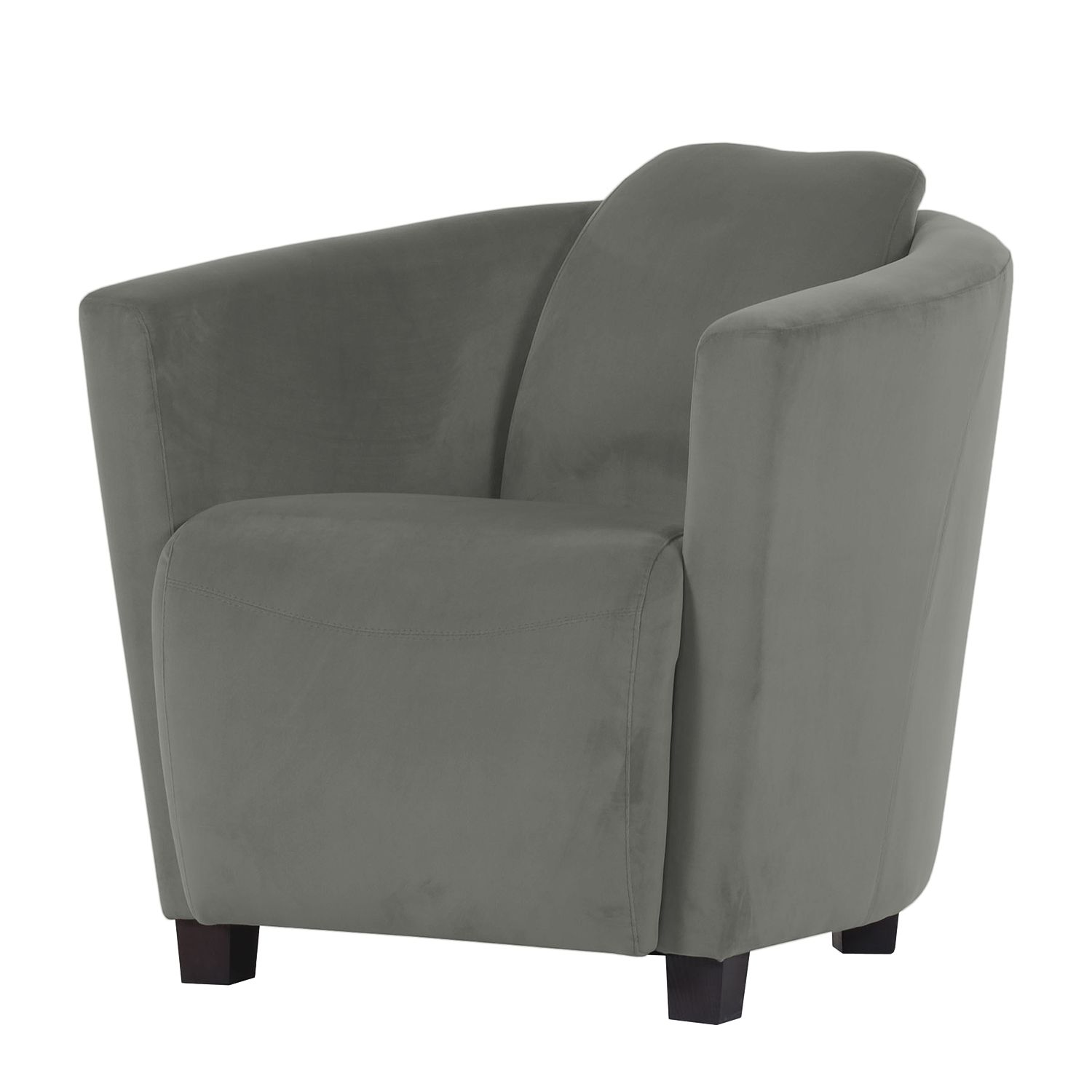 Fauteuil Ludes Microfibre - Gris, Jack and Alice