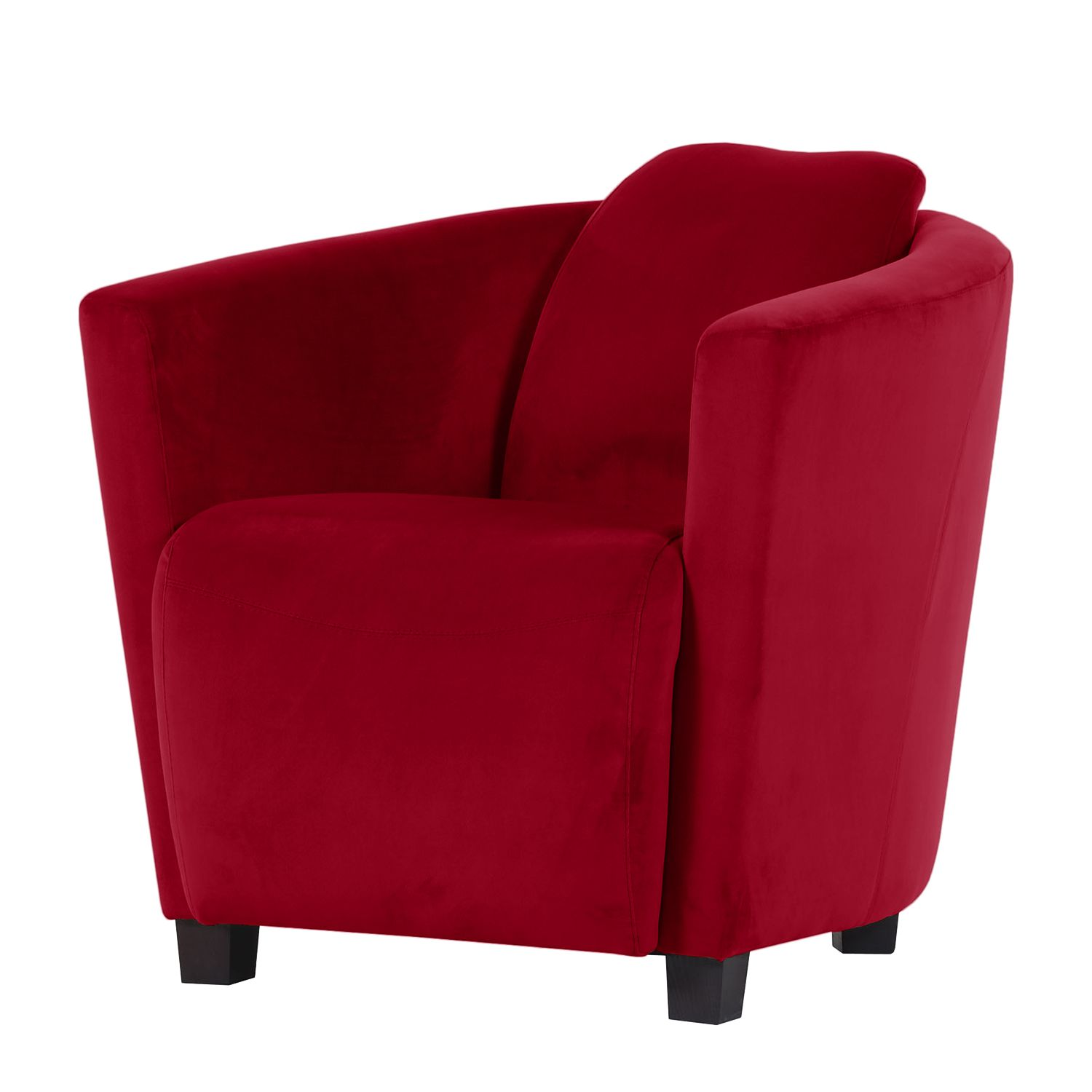 Fauteuil Ludes Microfibre - Rouge cerise, Jack and Alice