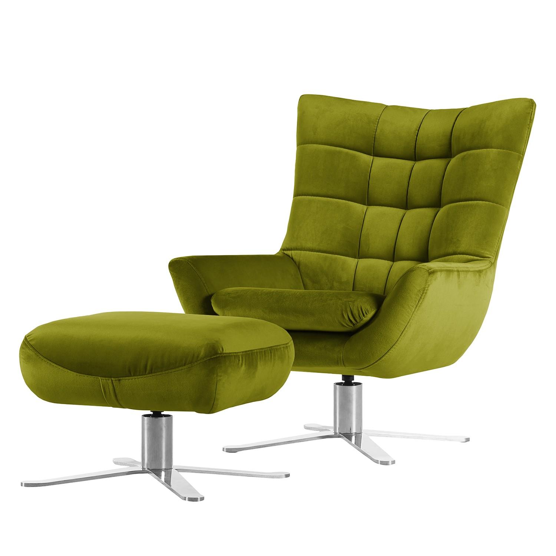 sessel chassy microfaser mit hocker avocado fredriks online kaufen. Black Bedroom Furniture Sets. Home Design Ideas