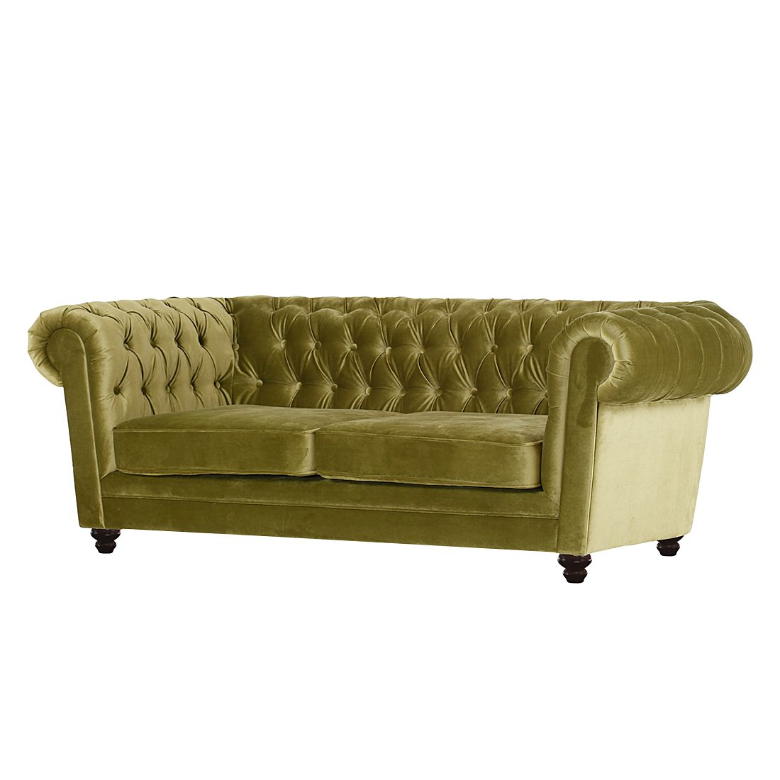 Grand sofa Verdor (3 places) - Tissu velours, Jack and Alice