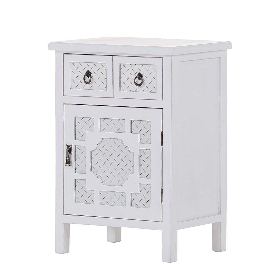 Mobiletto Dothan - Parzialmente in legno massello di abete Bianco, Maison Belfort