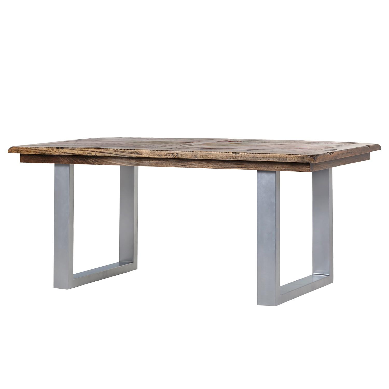 Table à manger Camibar V - Manguier massif / Métal - Manguier / Argenté, Ars Natura