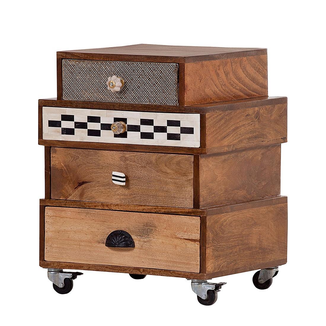 Cassettiera da ufficio con ruote History - Parzialmente massello, ars manufacti