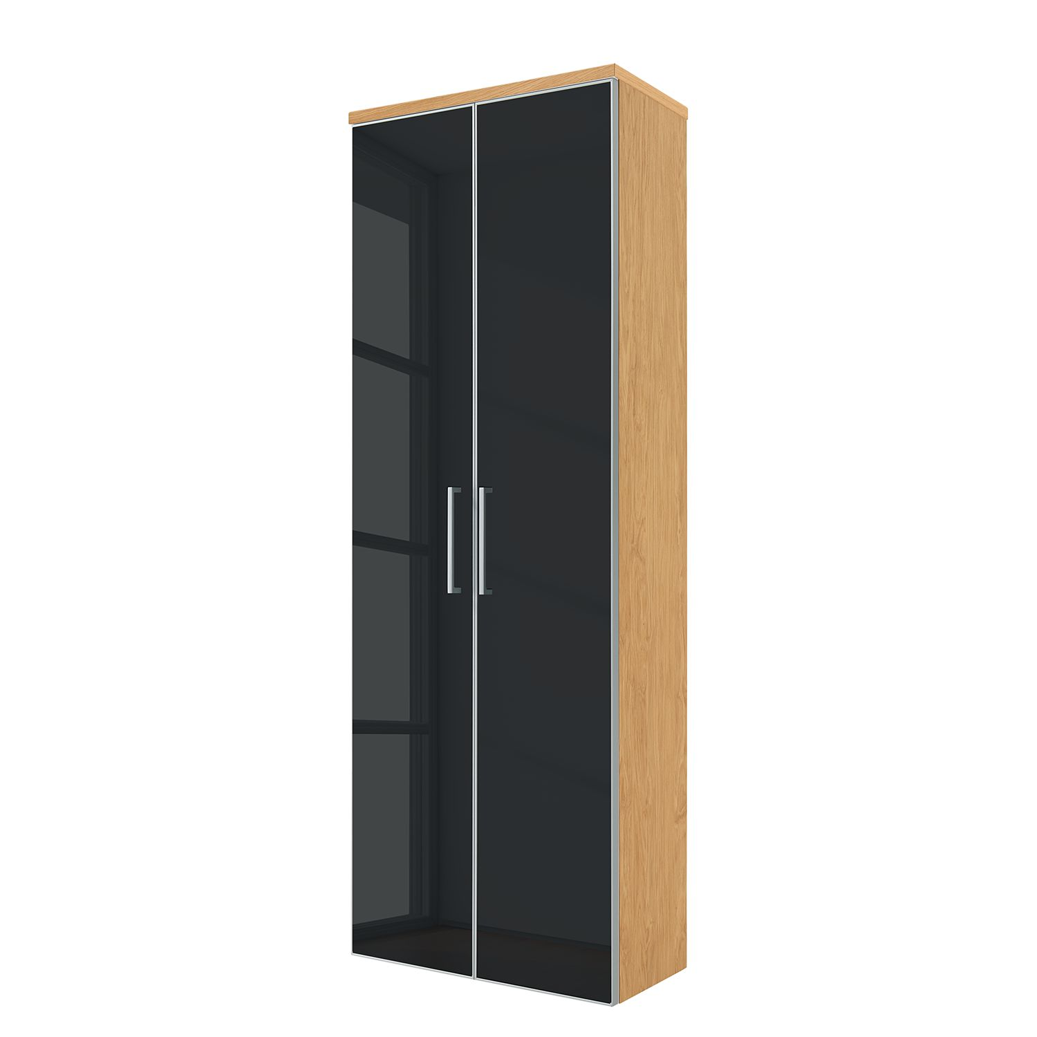 Armoire murale Alavere - Anthracite / Chêne bianco, Voss