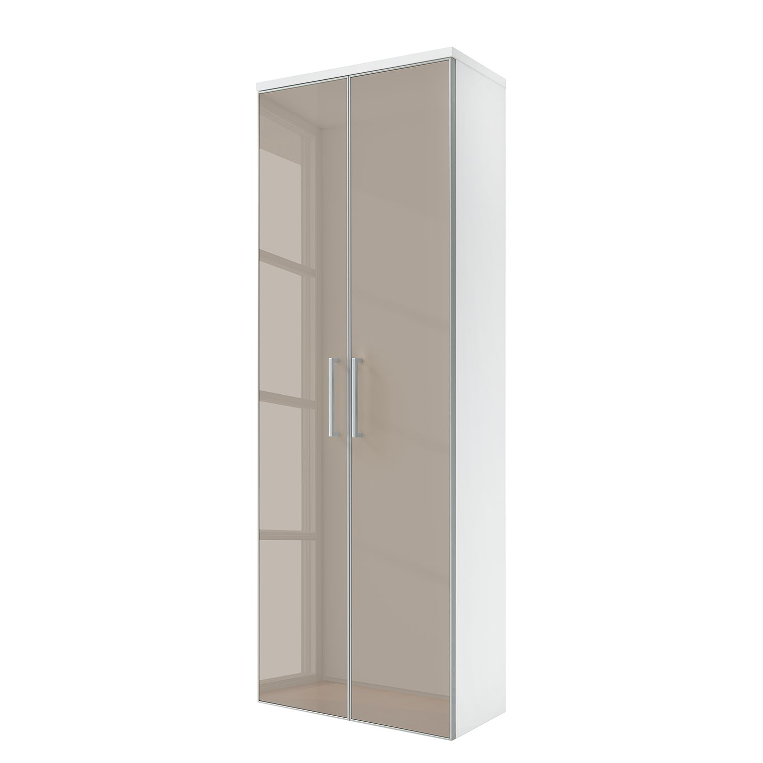 Armoire murale Alavere - Taupe / Blanc, Voss