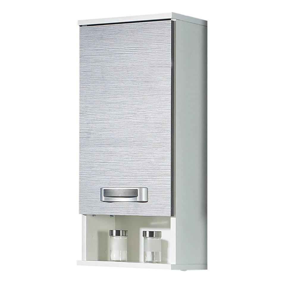Hangkast Granby - 1-deurs - wit/grijs essenhoutkleurig, Schildmeyer