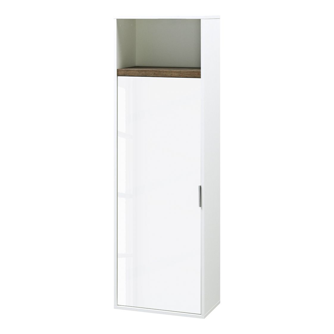 Armoire suspendue My Ell - Blanc brillant / Imitation chêne de Stirling, Cs Schmal