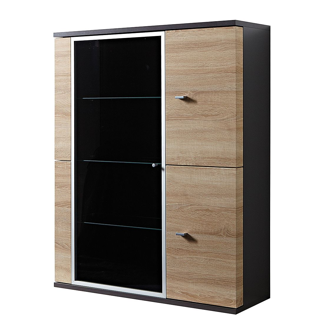 h ngevitrine zinnowitz eiche sonoma dekor anthrazit top square bestellen. Black Bedroom Furniture Sets. Home Design Ideas