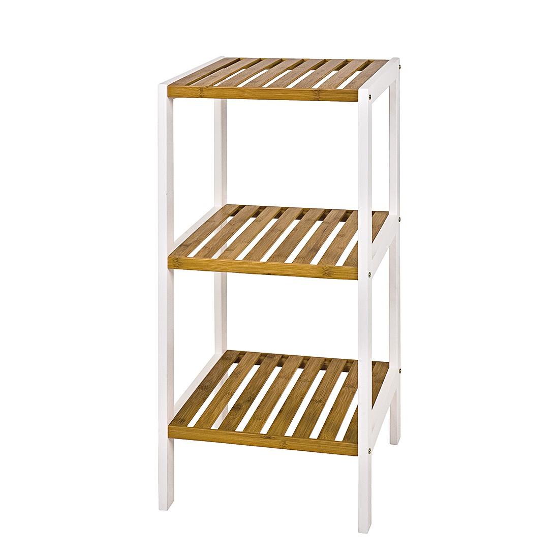 Regal Ilona III - Weiß/Bambus, Home Design