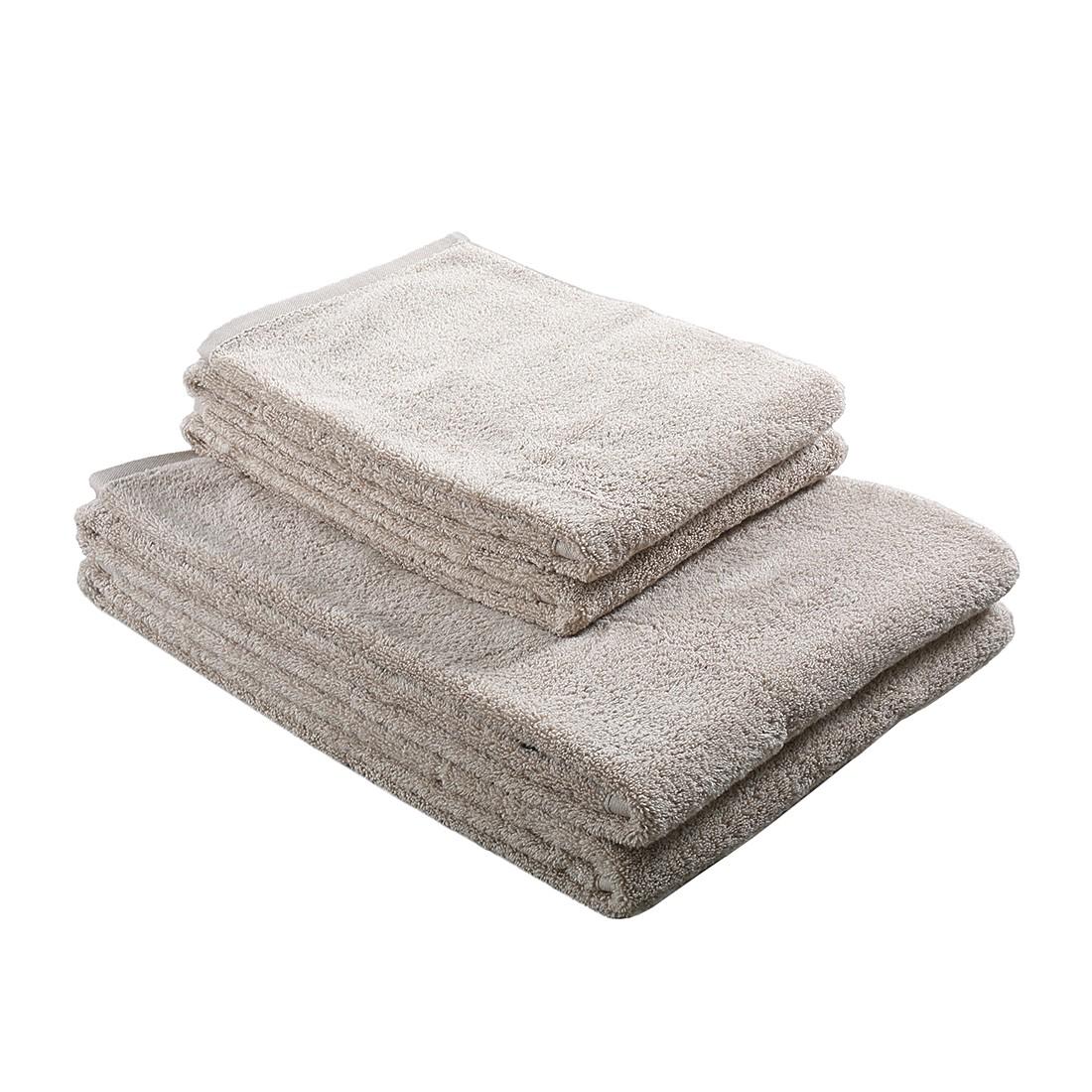 Home 24 - Ensemble de linges de toilette de bains pure (4 éléments) - 100 % coton - beige, stilana