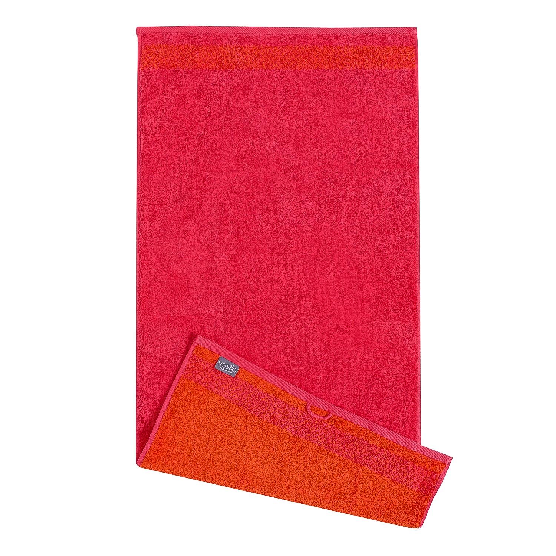 Home 24 - Serviette de toilette borgo (lot de 2) - coton - rouge, vestio