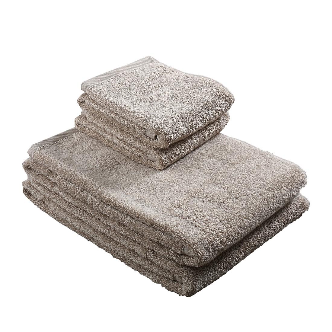 Home 24 - Lot de serviettes pure (4 éléments) - beige, stilana