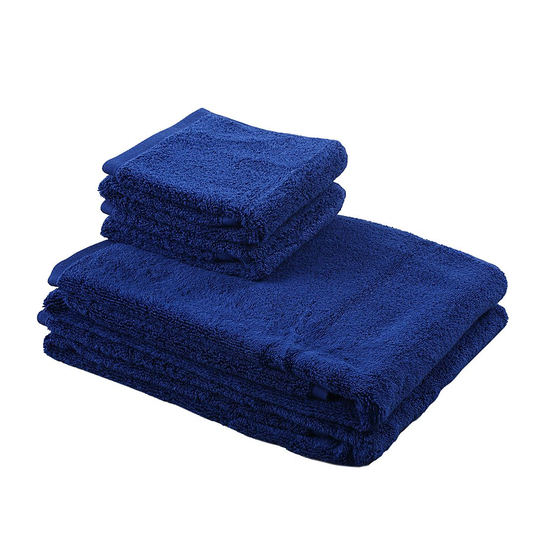 Home 24 - Lot de serviettes pure (4 éléments) - bleu, stilana