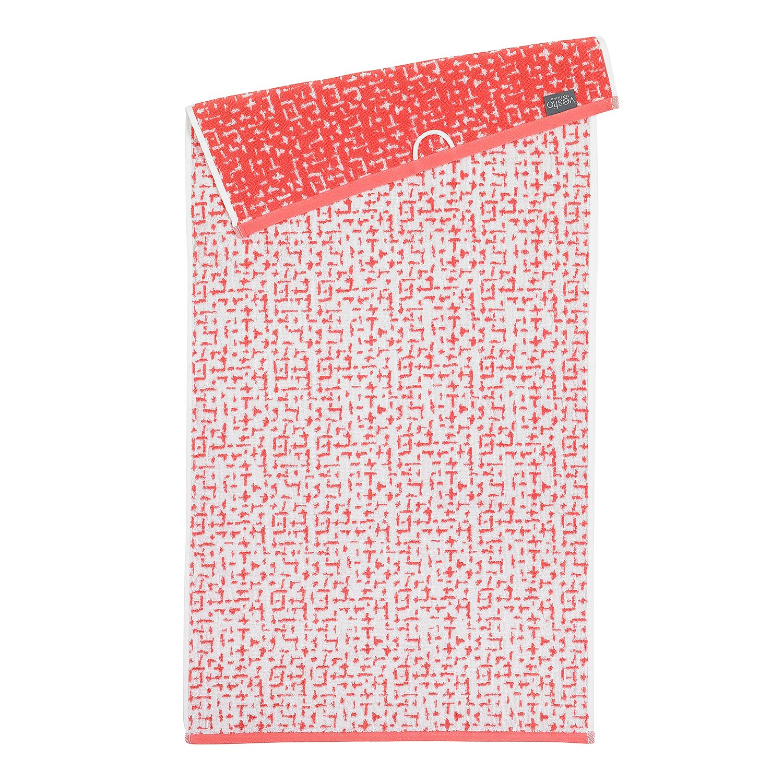 Home 24 - Serviette de bain jackson - coton - rouge / crème, vestio