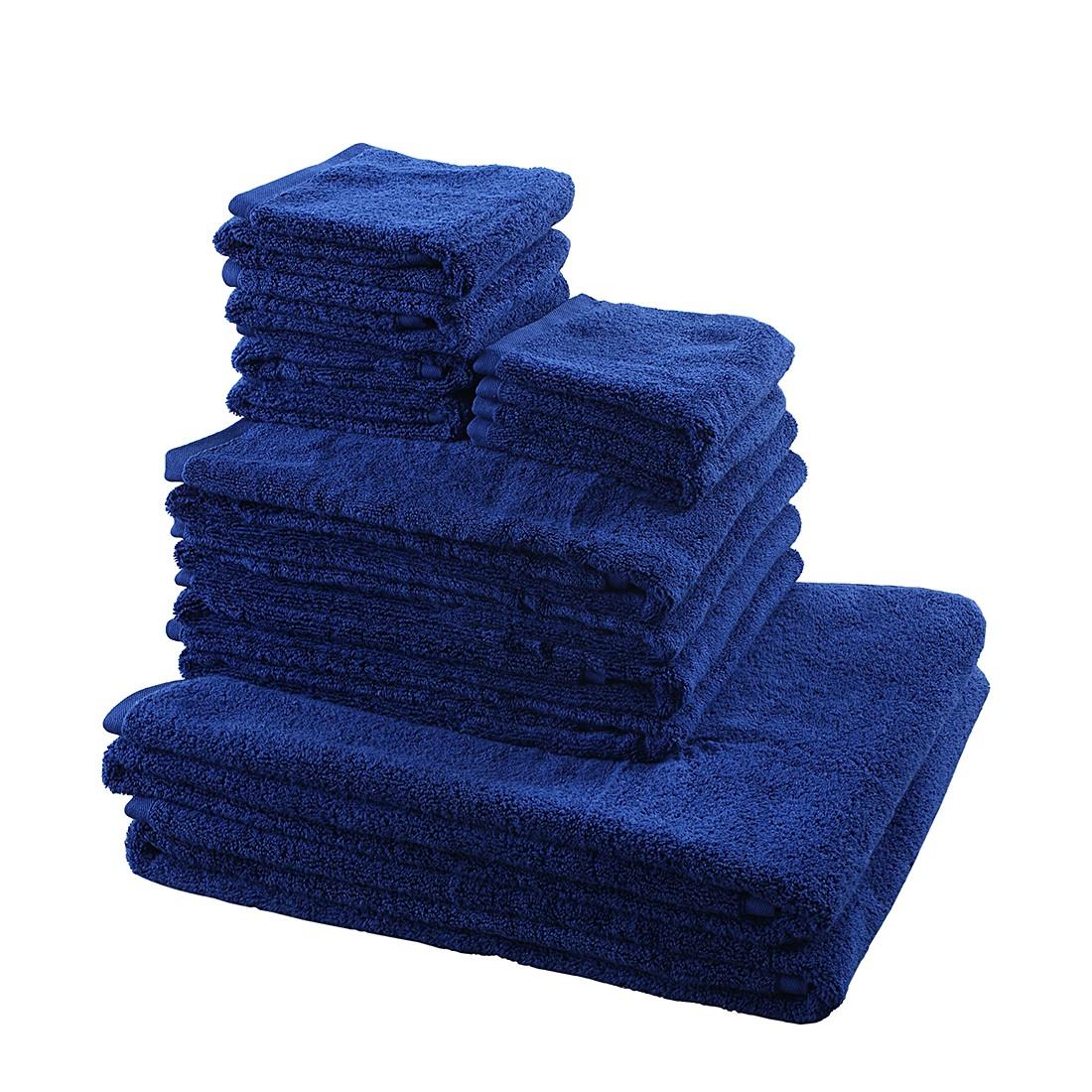 Home 24 - Lot de linges de toilette pure (2 éléments) - bleu foncé, stilana