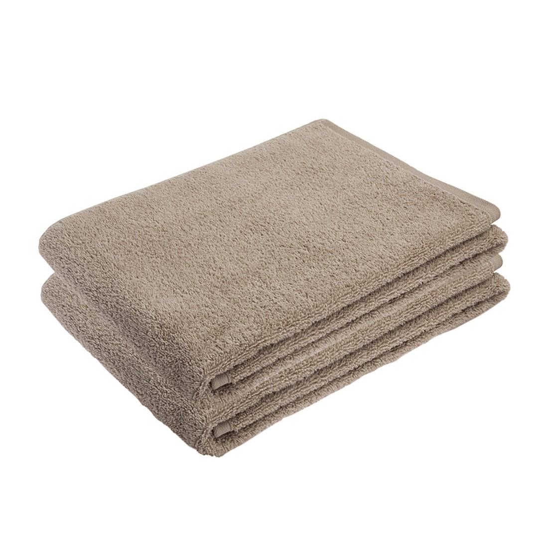 Home 24 - Ensemble de linges de toilette pure (2 éléments) - 100 % coton - beige, stilana