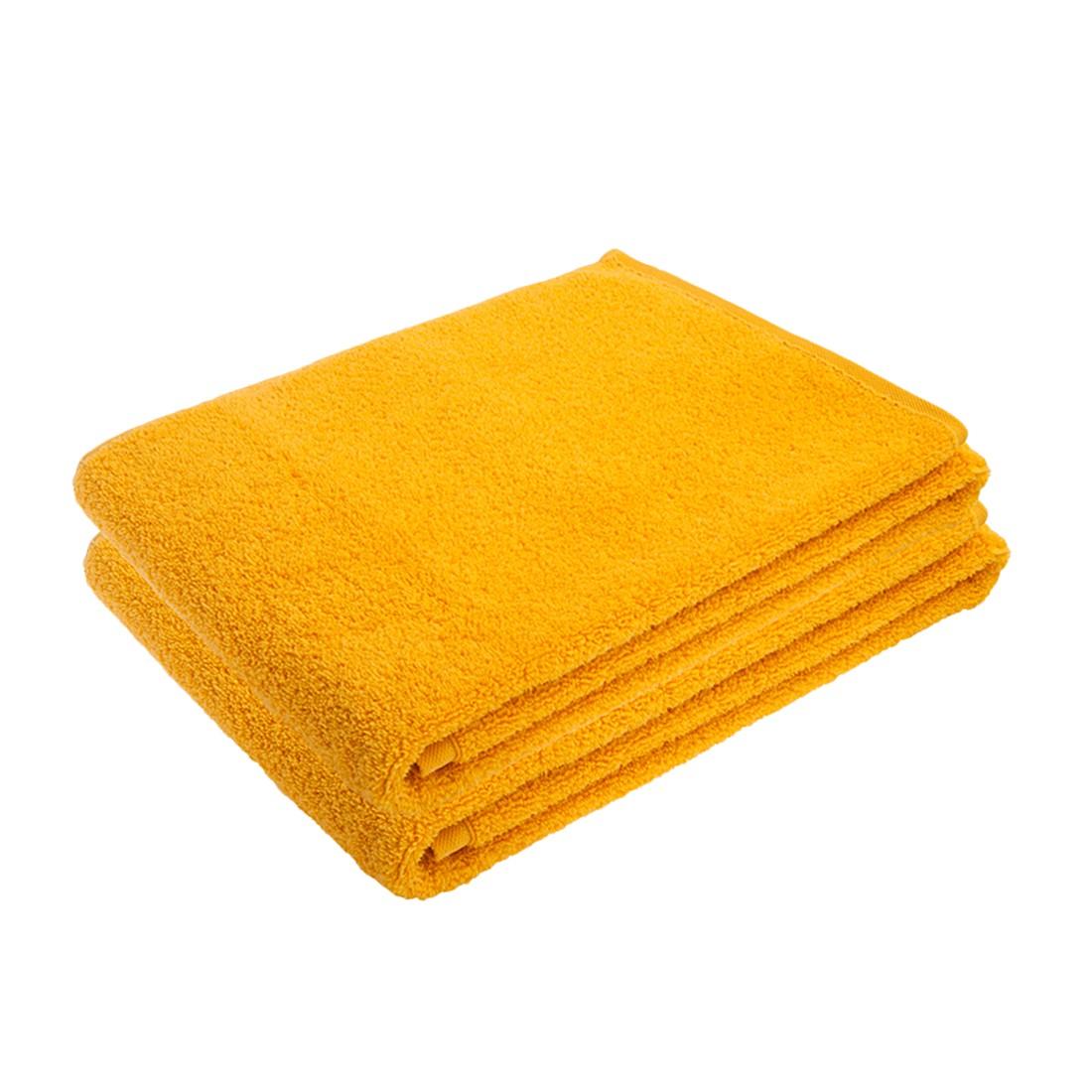 Handdoeken PURE (2-delige set) - 100% katoen - geel, stilana