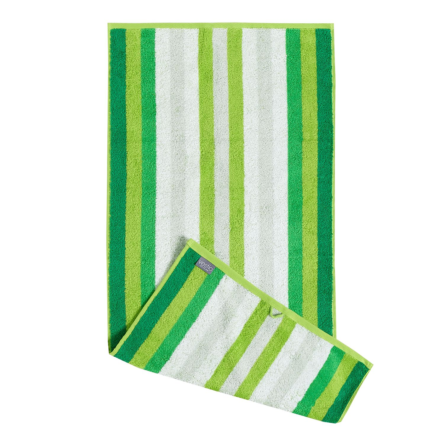 Home 24 - Serviette de toilette sisco (lot de 2) - coton - vert, vestio