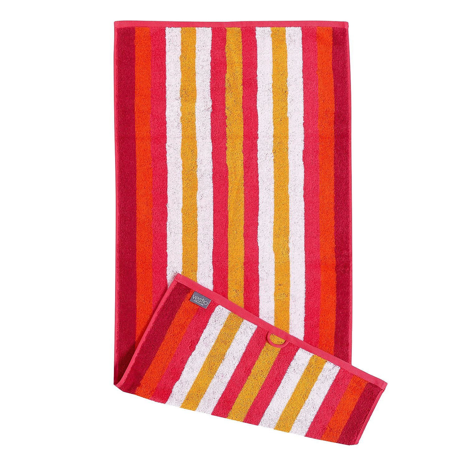 Home 24 - Serviette de bain sisco - coton - rouge, vestio