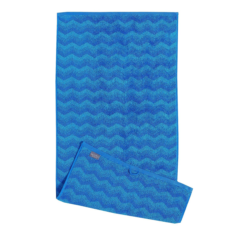 Home 24 - Serviette de bain zonza - coton - bleu, vestio