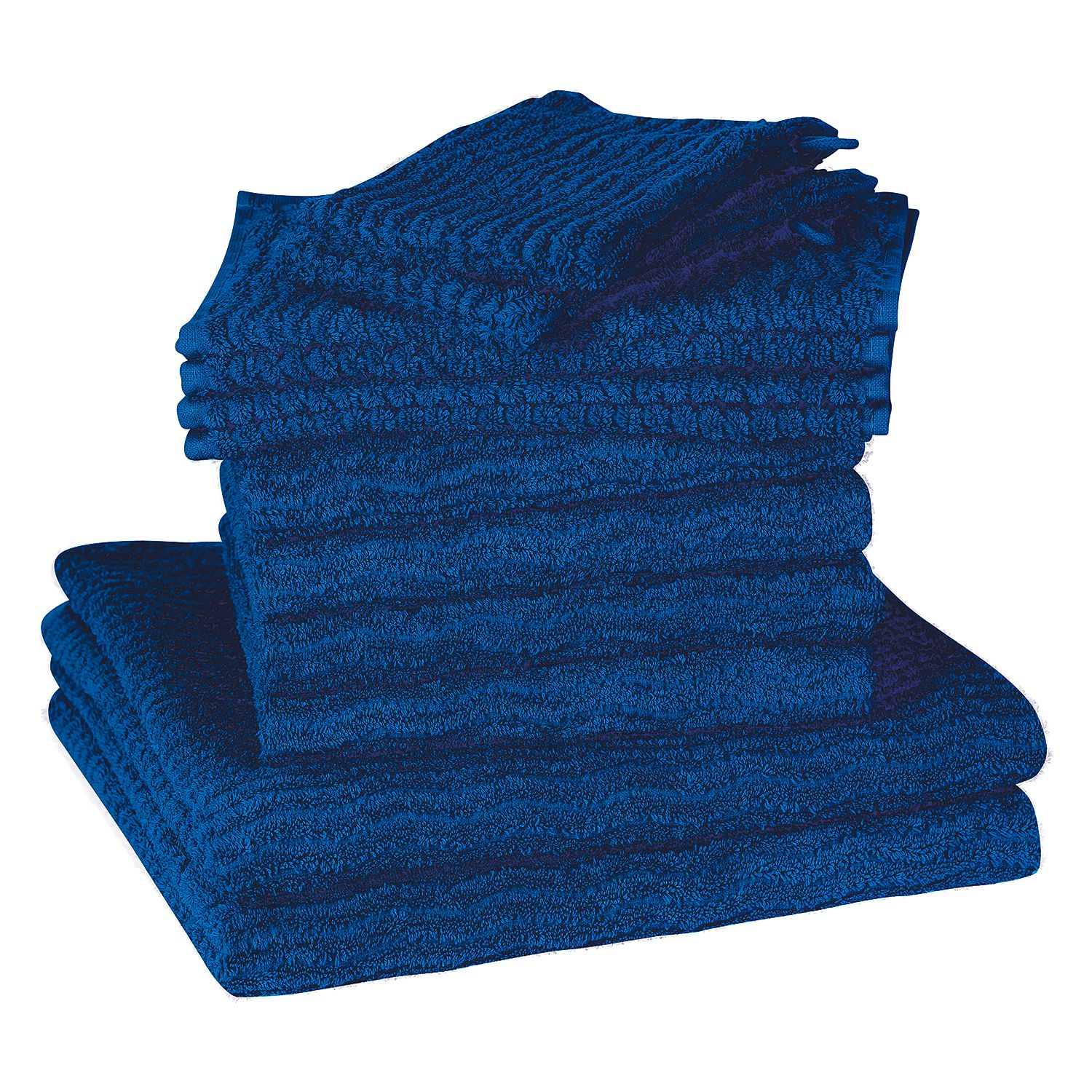 Home 24 - Set de serviettes de toilette wave (12 éléments) - coton - bleu, vestio