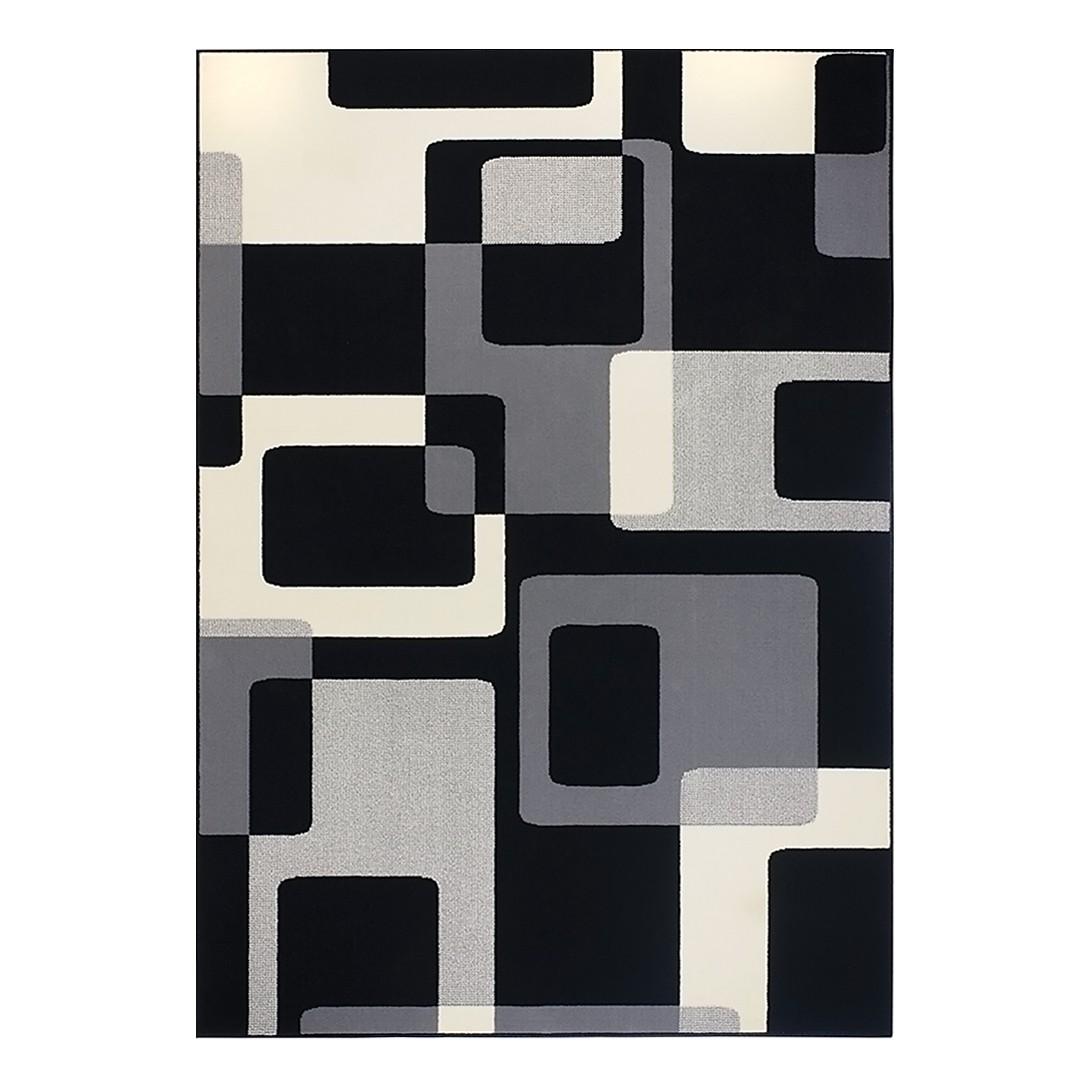 Teppich Retro - Grau/Schwarz - 80 x 150 cm, Hanse Home Collection