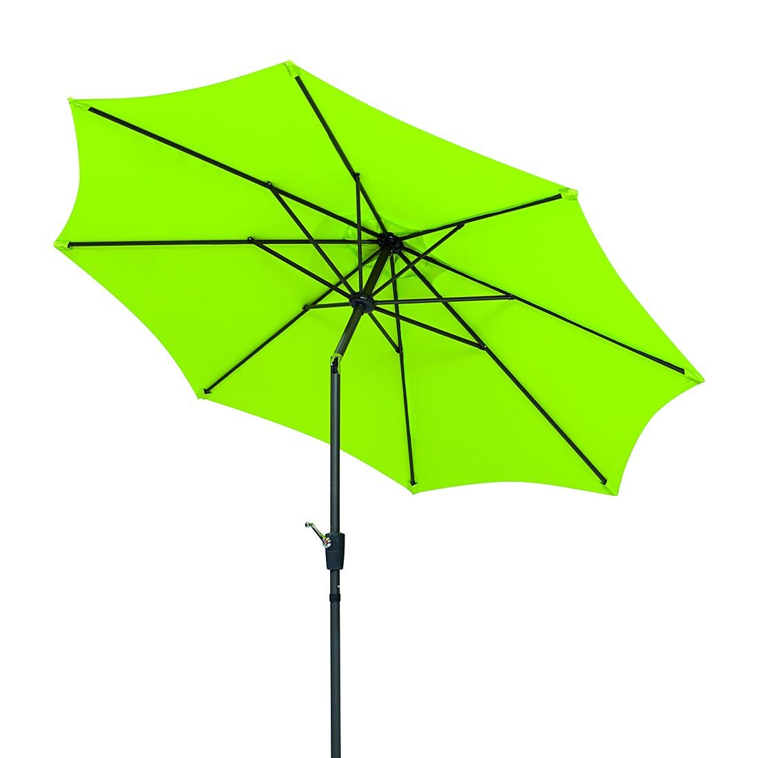 Harlem 270 Sonnenschirm - Aluminium/Polyester - Anthrazit/Apfelgrün, Schneider Schirme