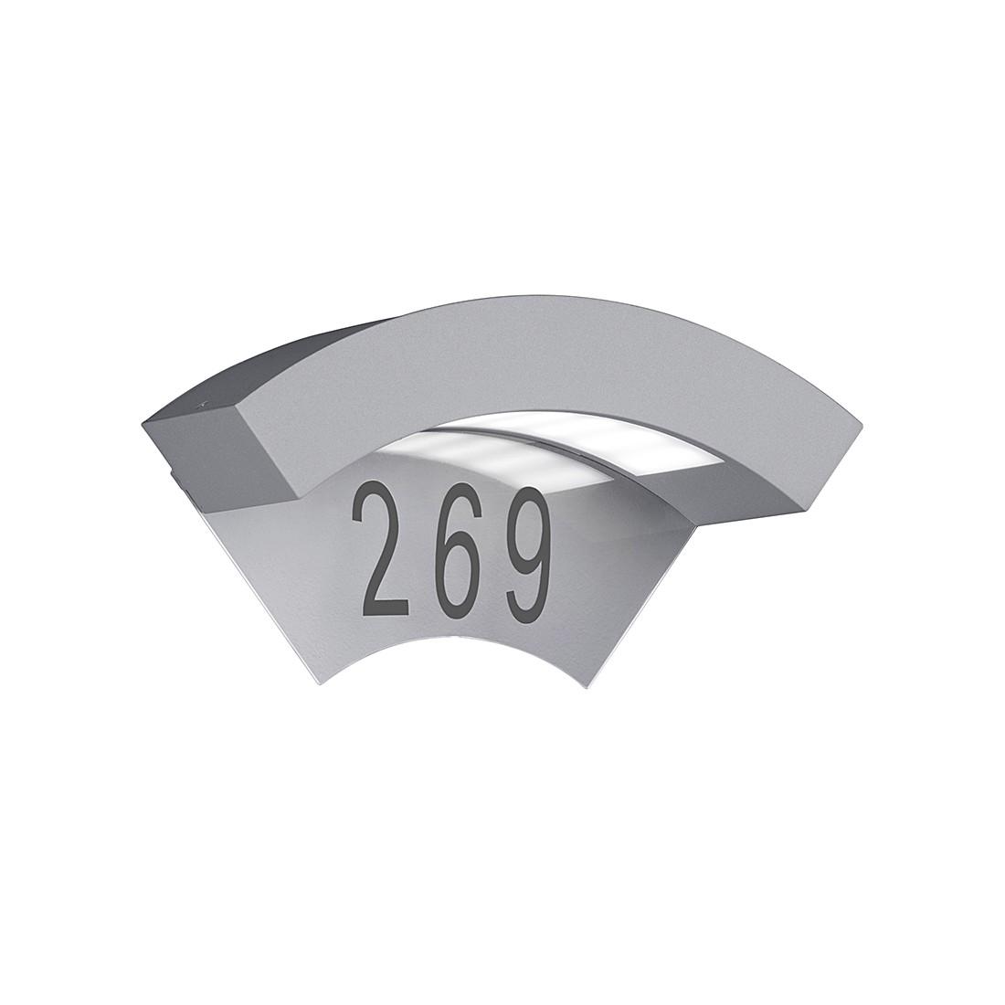 EEK A+, LED-Außenleuchte Moskwa 1-flammig - Aluminium Kunststoff - Silber, Trio