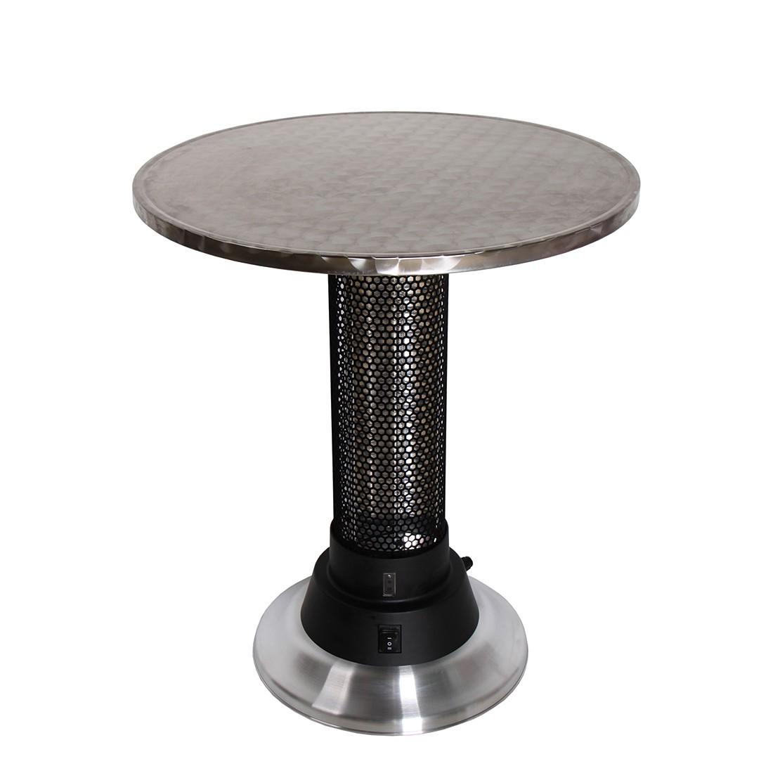 Heizstrahler Tisch Chambon - Stahl - Silber, Garden Pleasure