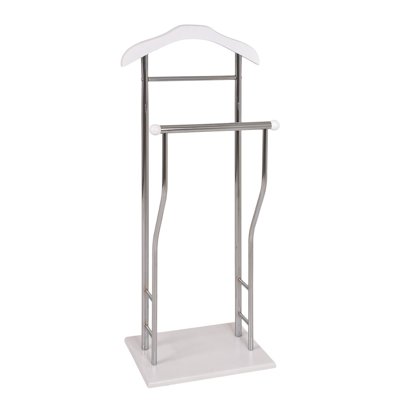 Herrendiener Ralf - Stahlrohr - Weiß, Home Design
