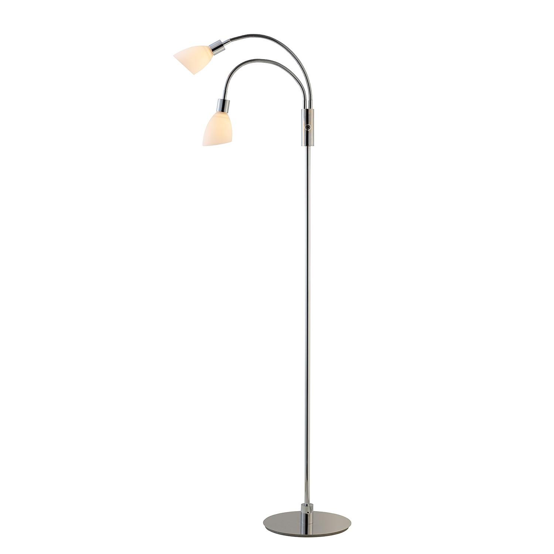 EEK A+, Lampadaire LED Cut - Verre / Métal - 2 ampoules, Herstal