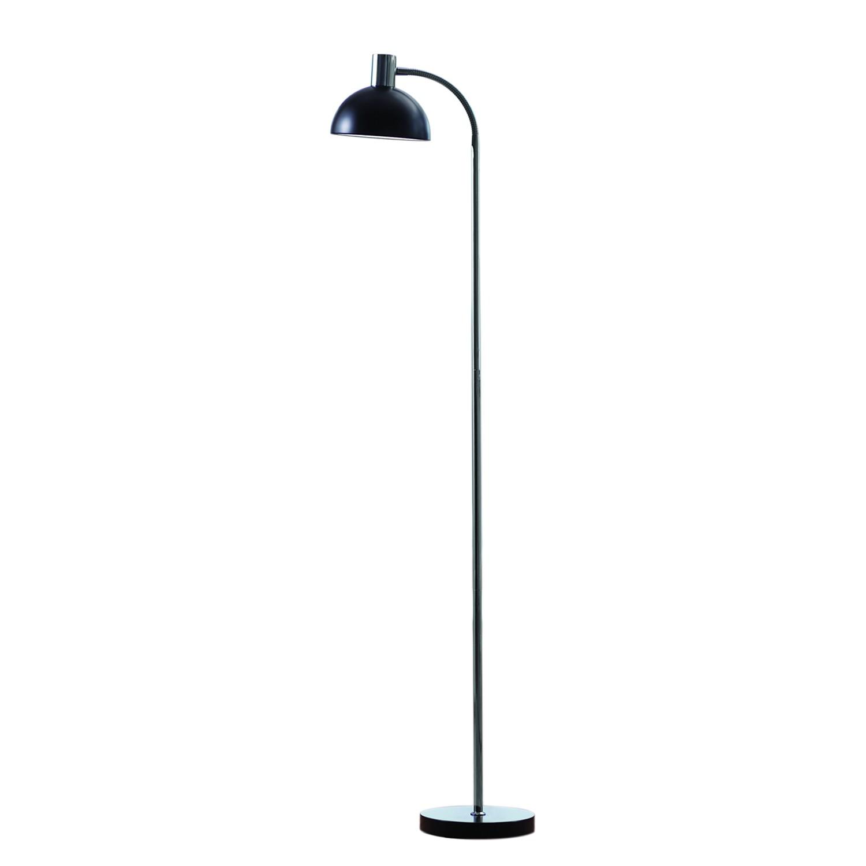 EEK A++, Lampadaire Vienda - Métal - 1 ampoule - Noir / Chrome, Herstal