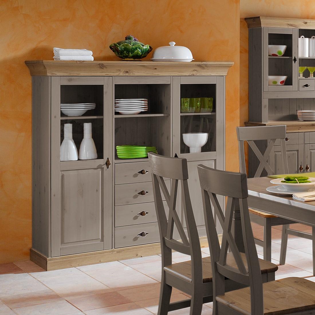 highboard bergen kiefer massiv grau laugenfarbig maison belfort g nstig kaufen. Black Bedroom Furniture Sets. Home Design Ideas