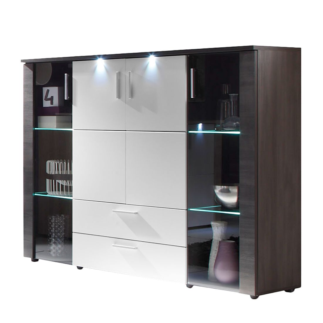 highboard weiss hochglanz preis vergleich 2016. Black Bedroom Furniture Sets. Home Design Ideas