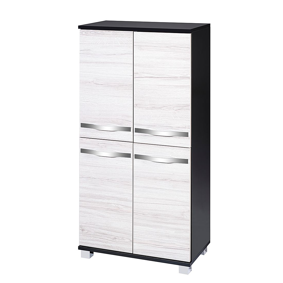 Home 24 - Buffet dusty - anthracite / imitation chêne froid, schildmeyer