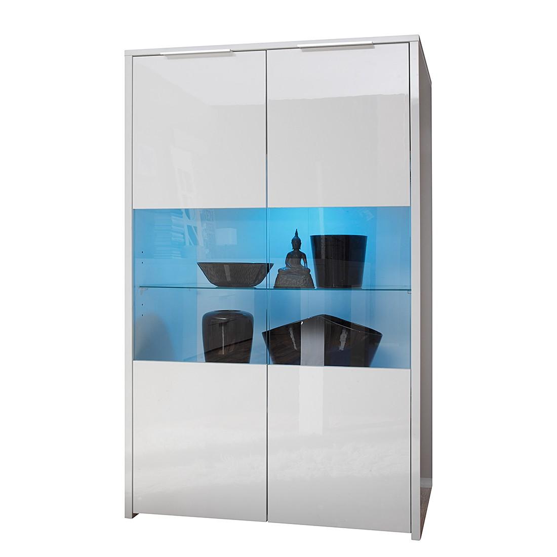 energie A+, Highboard Elianto II hoogglans wit Met verlichting, Lc Mobili
