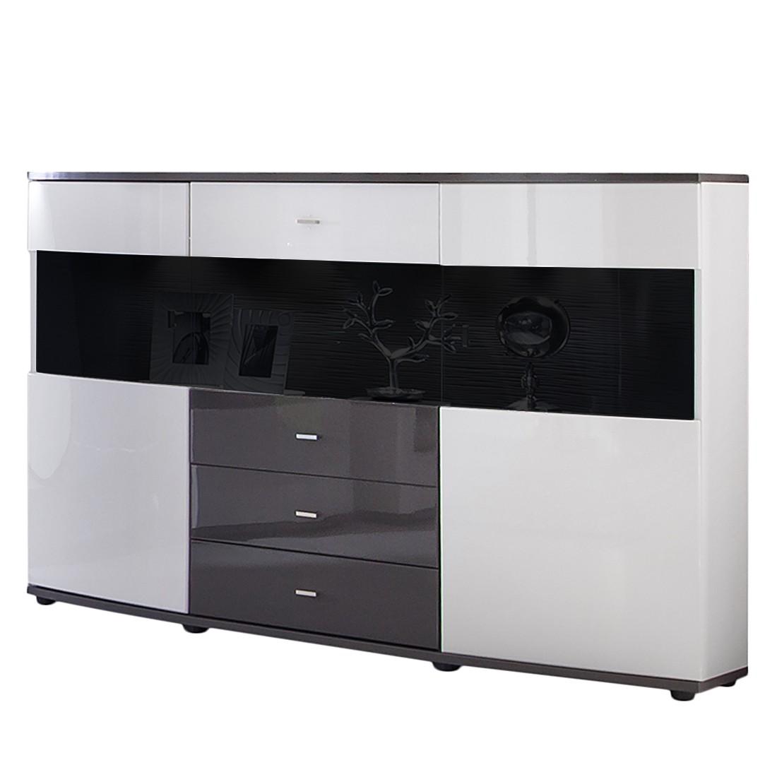 Verschiedene Sideboard Grau Weiß Dekoration Von Highboard Galway - Hochglanz Weiß/ - Ohne
