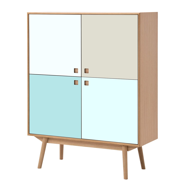 Home 24 - Buffet haut levin - chêne / bleu pastel, studio copenhagen