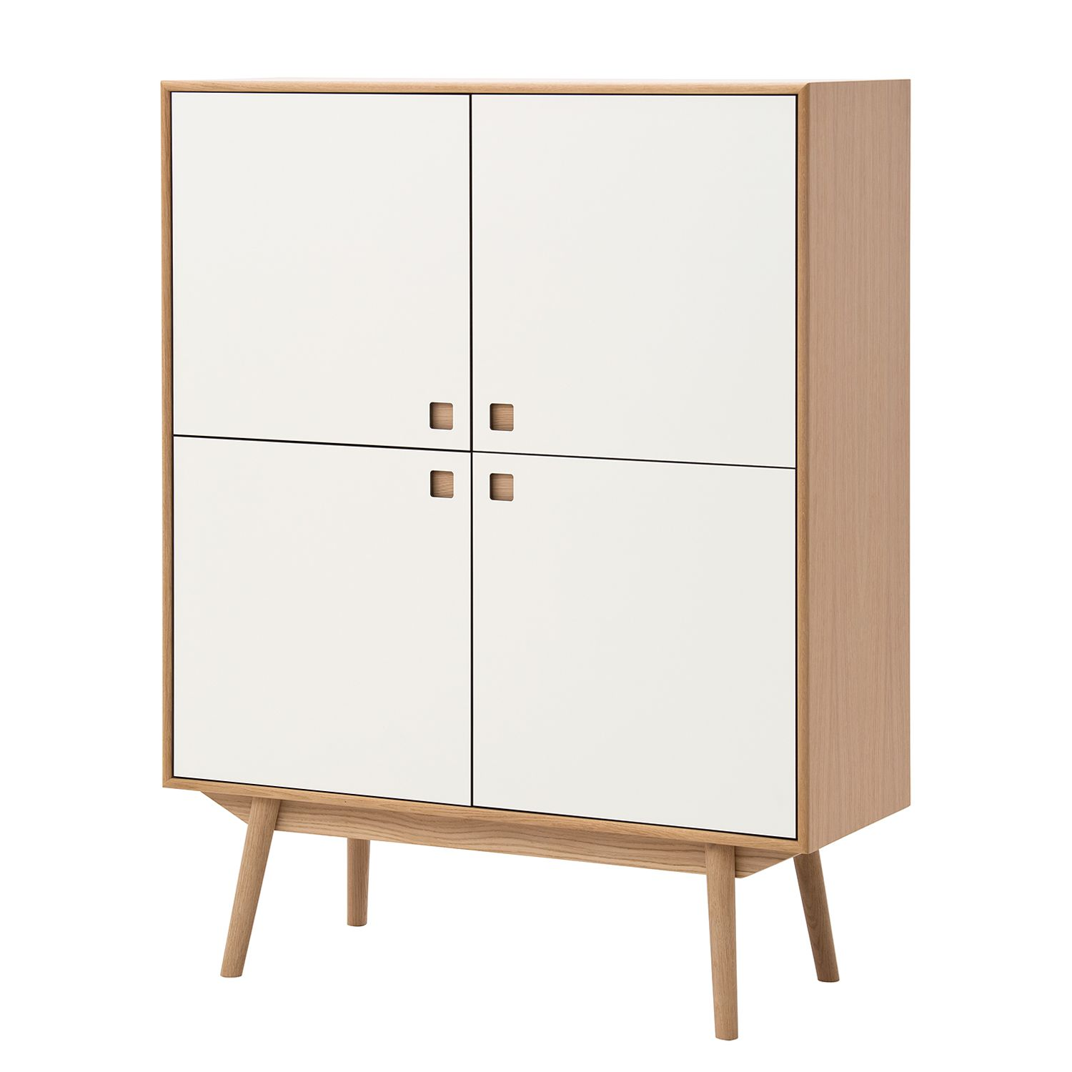 Highboard Levin - Eiche / Weiß