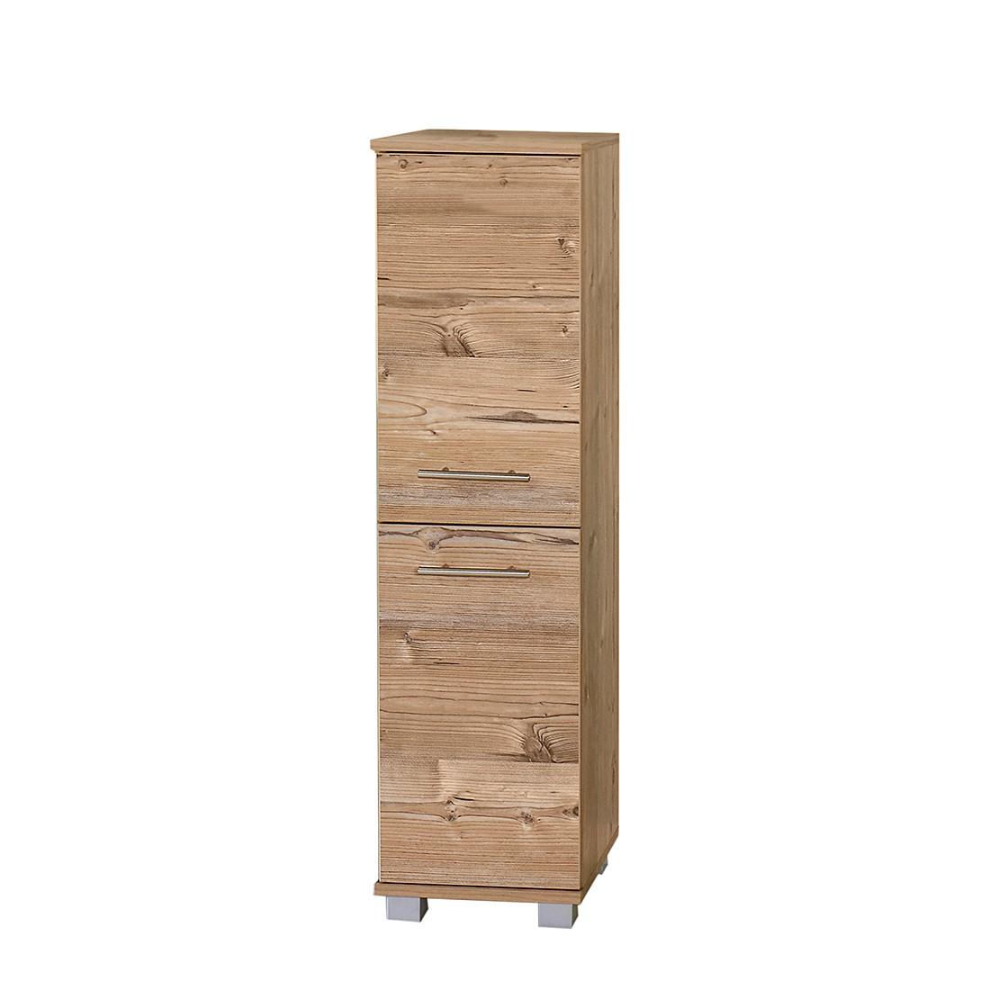 Image of Armadietto alto Welnezz - 2 ante/Effetto legno di abete argentato ante Effetto, Schildmeyer