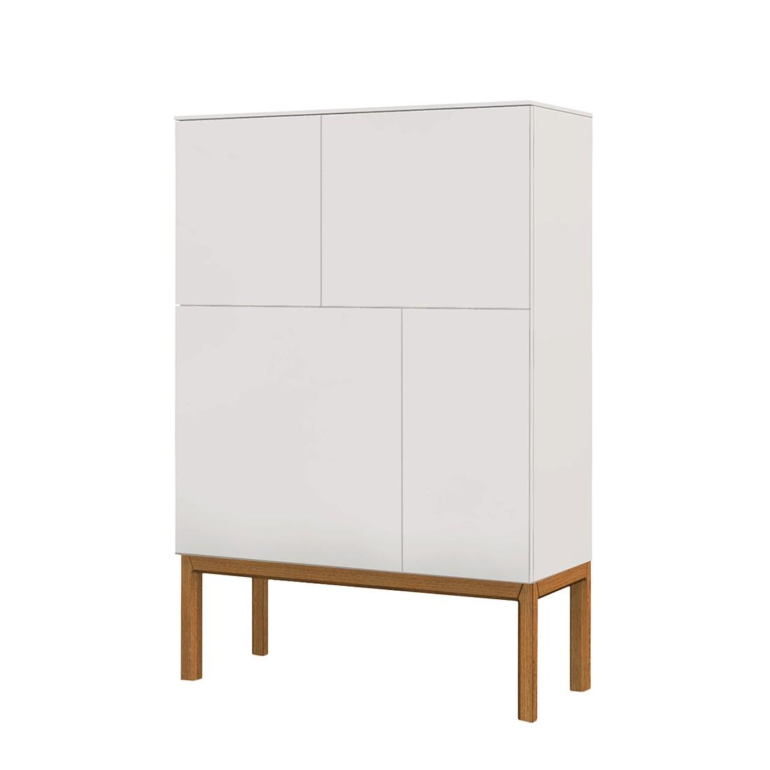 Credenza Patch II - Parzialmente in legno massello di quercia Bianco, Tenzo