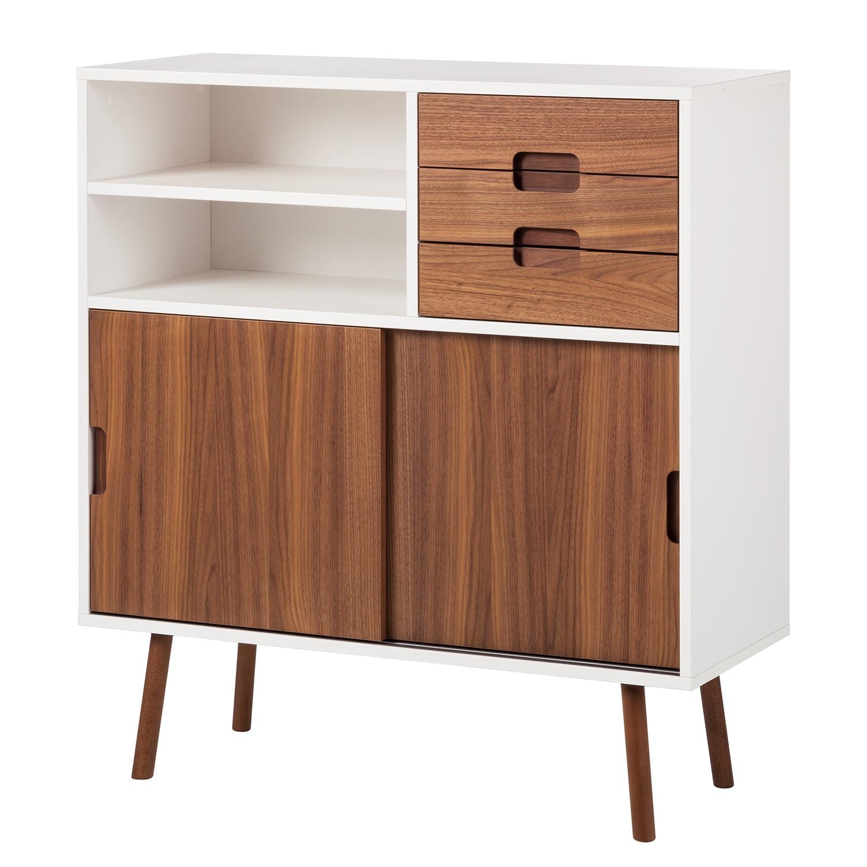 sideboard weiss nussbaum preisvergleich die besten. Black Bedroom Furniture Sets. Home Design Ideas