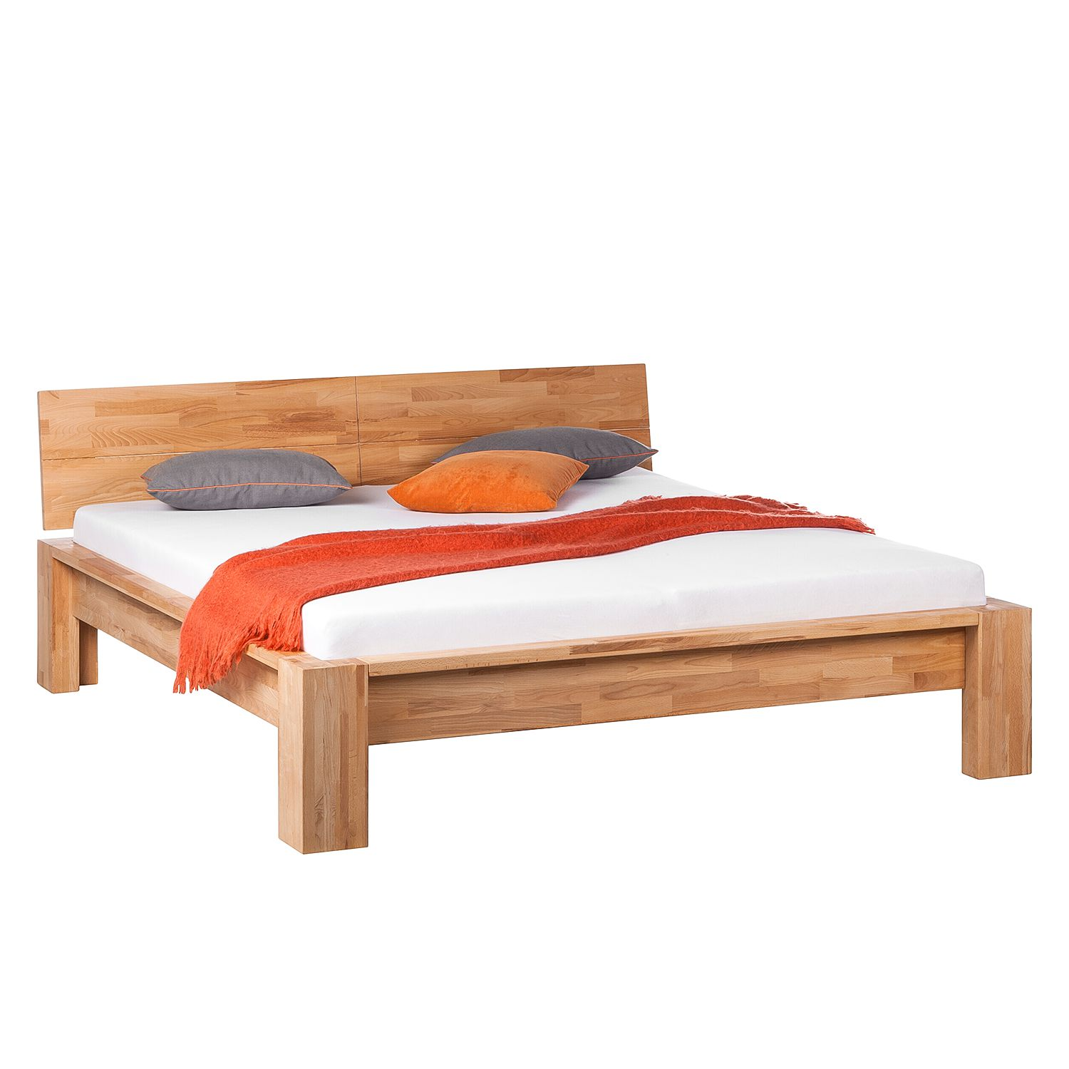 Bed ParosWood - massief hout - 140 x 200cm - Beuk, Ars Natura