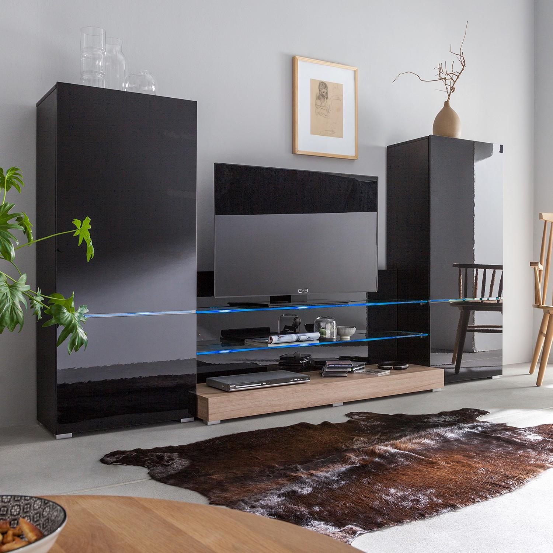wohnwand schwarz preisvergleich die besten angebote online kaufen. Black Bedroom Furniture Sets. Home Design Ideas