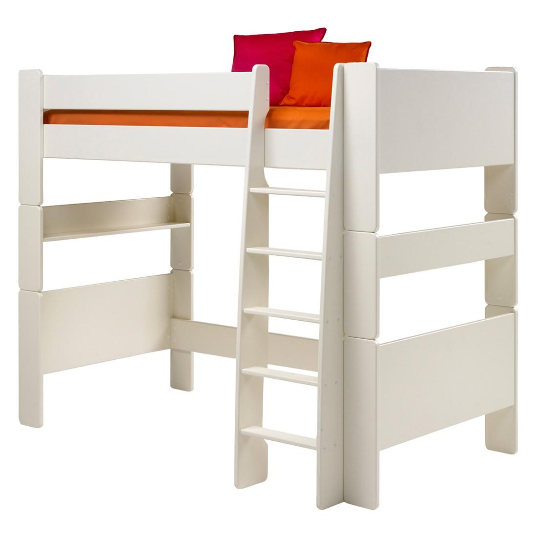Lit mezzanine Steens for Kids I - Panneau MDF, vernis blanc, Steens