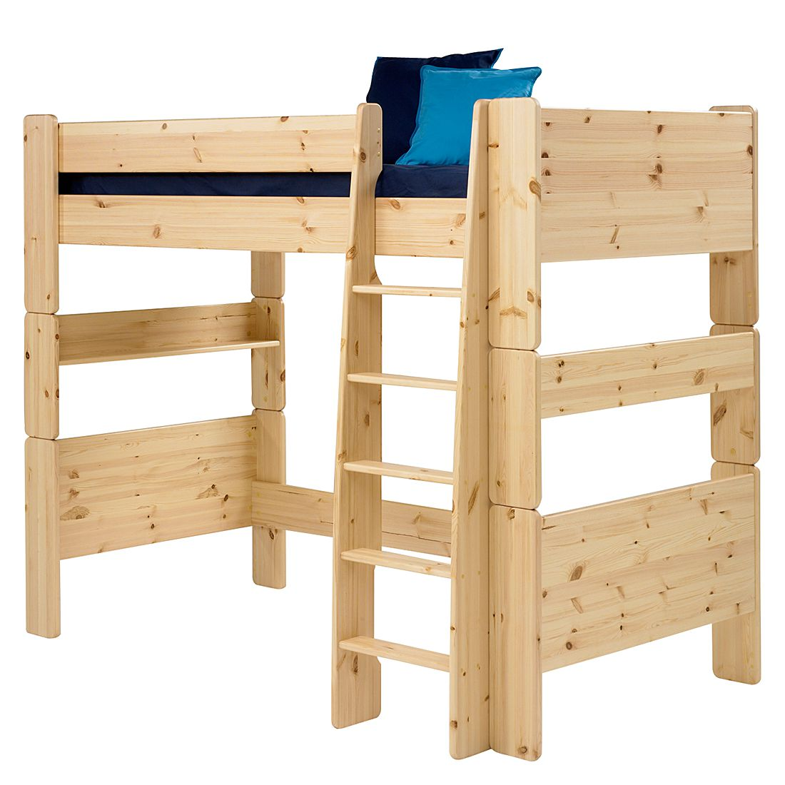 Lit mezzanine Steens for Kids - Pin massif , verni, Steens