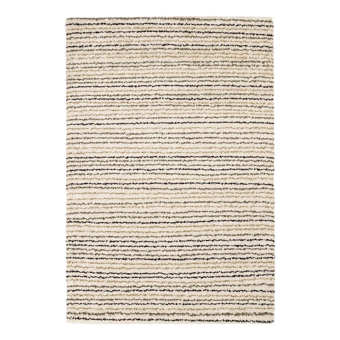 Hoogpolig tapijt Maestro - gelijnd beige - 67x130cm, Schöner Wohnen Kollektion